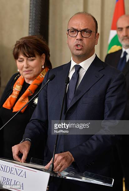 Angelino Alfano during politics consultations after the resignation of government Renzi on December 10 2016 at the Quirinale Palace in Rome Italian...