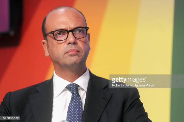 Angelino Alfano Minister of Foreign Affairs attends a National Festa dell'Unita public debate on September 15 2017 in Imola Italy