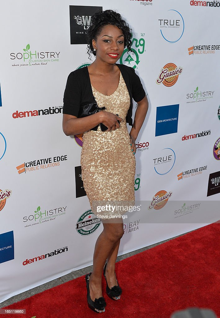 Angelique Andrews attends the 6th Annual 'Where Hip Hop Meets Couture' Fashion Show at Dog Patch Wine Works on March 30, 2013 in San Francisco, California.