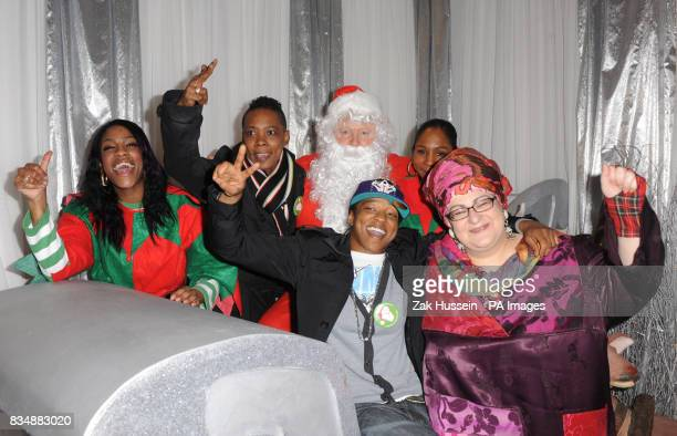 Angelique Annie Hutchenson Rory Bremner as Santa Claus Kacey BaileyBarker and Camila Batmanghelidjh from the Kids Company charity at The General...