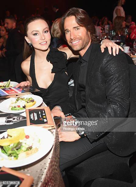 Angelique Boyer and Sebastian Rulli attend the 2016 Person of the Year honoring Marc Anthony at the MGM Grand Garden Arena on November 16 2016 in Las...