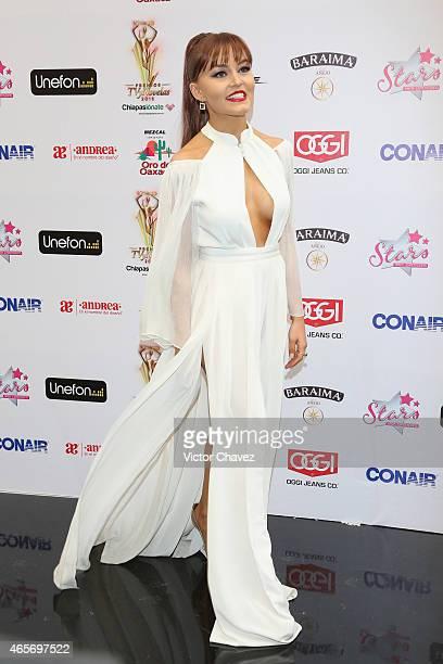 Angelique Boyer arrives at Premios TV y Novelas 2015 at Televisa San Angel on March 9 2015 in Mexico City Mexico