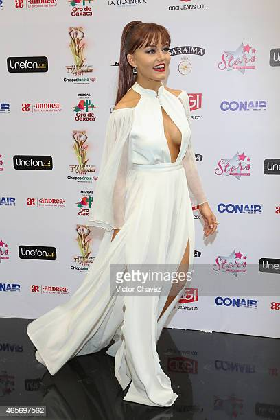 Angelique Boyer arrives at Premios TV y Novelas 2015 at Televisa San Angel on March 9 2015 in Mexico City Mexico