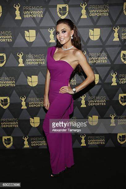 Angelique Boyer arrives at Premios Univision Deportes 2016 on December 18 2016 in Miami Florida