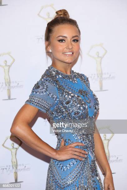Angelique Boyer attends Premios Tv y Novelas 2017 at Televisa San Angel on March 26 2017 in Mexico City Mexico