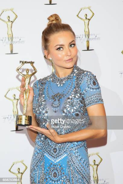 Angelique Boyer attends the press room during the Premios Tv y Novelas 2017 at Televisa San Angel on March 26 2017 in Mexico City Mexico