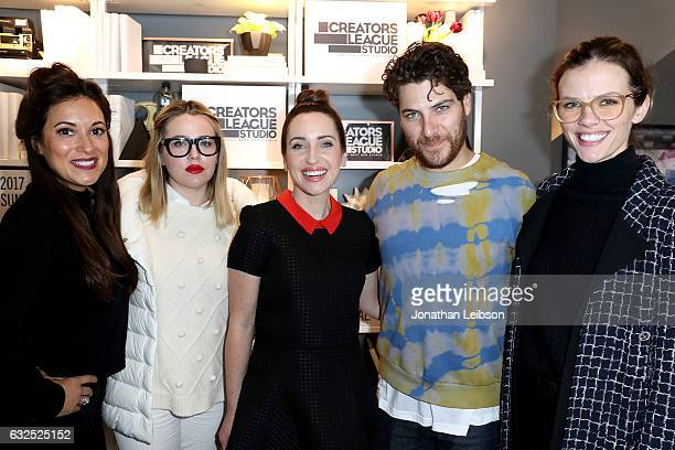Angelique Cabral Majandra Delfino Zoe ListerJones Adam Pally and Brooklyn Decker attend the Creators League Studio At 2017 Sundance Film Festival Day...