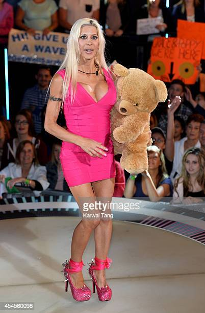 Angelique 'Frenchy' Morgan is evicted from the Celebrity Big Brother house at Elstree Studios on September 3 2014 in Borehamwood England