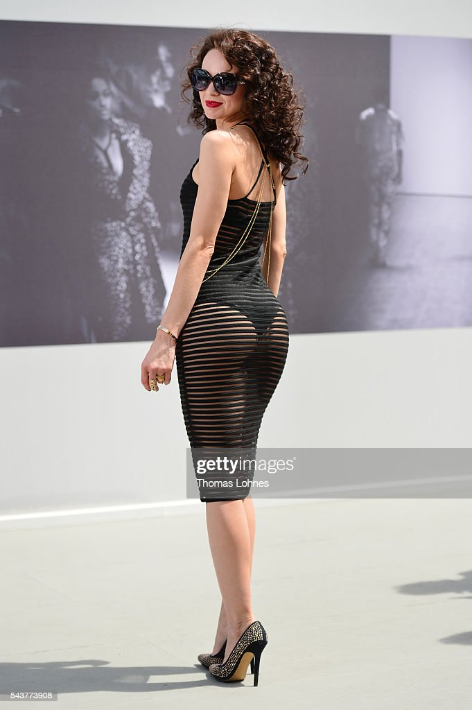 Angelique Keller attends the Mercedes-Benz Fashion Week Berlin Spring/Summer 2017 at Erika Hess Eisstadion on June 29, 2016 in Berlin, Germany.