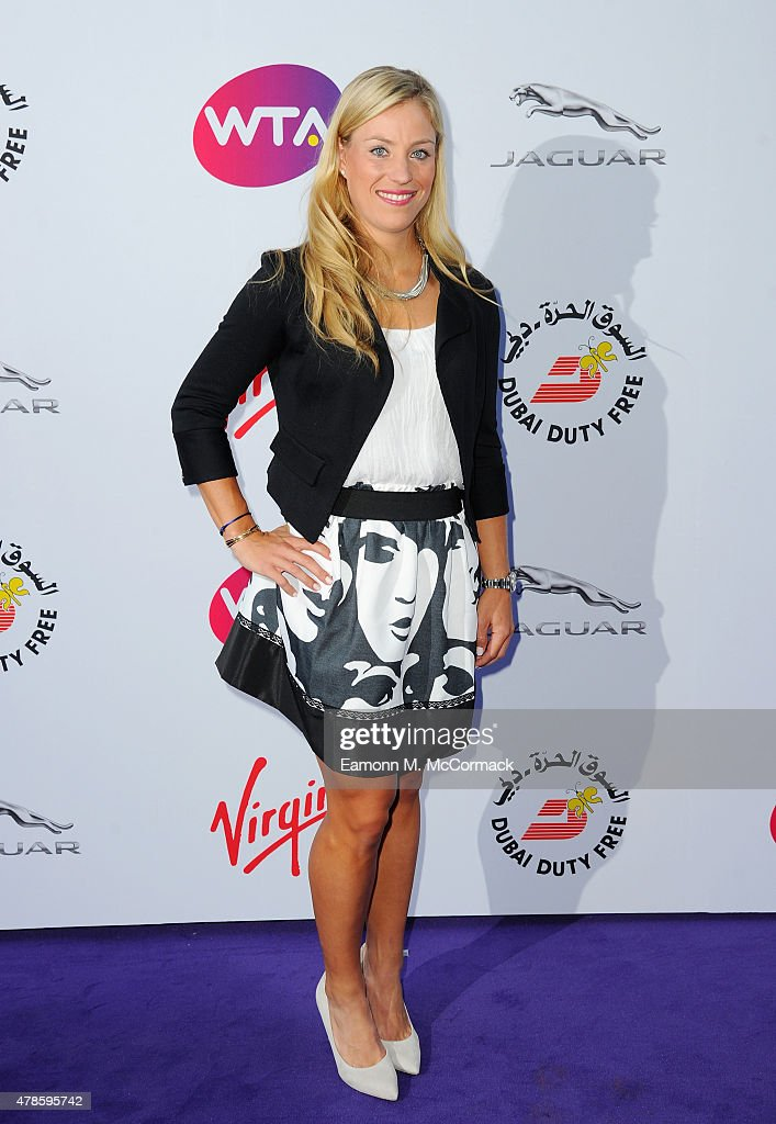 <a gi-track='captionPersonalityLinkClicked' href=/galleries/search?phrase=Angelique+Kerber&family=editorial&specificpeople=4307332 ng-click='$event.stopPropagation()'>Angelique Kerber</a> attend the annual WTA Pre-Wimbledon Party presented by Dubai Duty Free at The Roof Gardens, Kensington on June 25, 2015 in London, England.