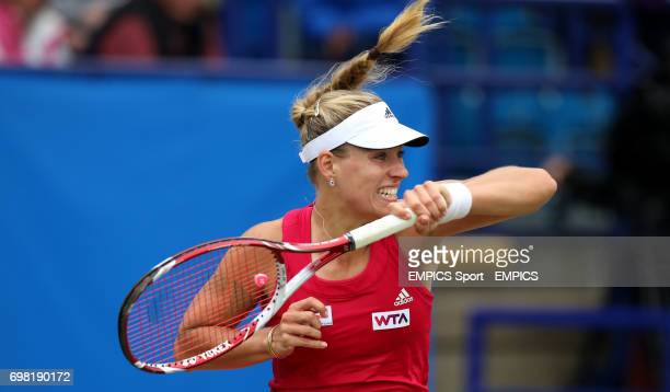 Angelique Kerber during her match against Alize Cornet