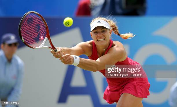 Angelique Kerber in action against Caroline Wozniacki during the AEGON International at Devonshire Park Eastbourne