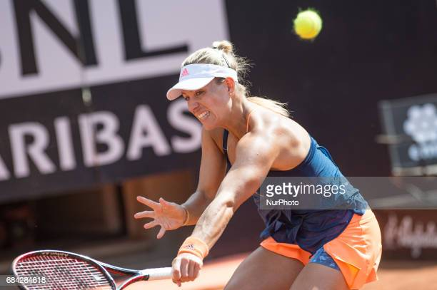 Angelique Kerber in action during the match between Angelique Kerber vs Anett Kontaveit at the Internazionali BNL d'Italia 2017 at the Foro Italico...