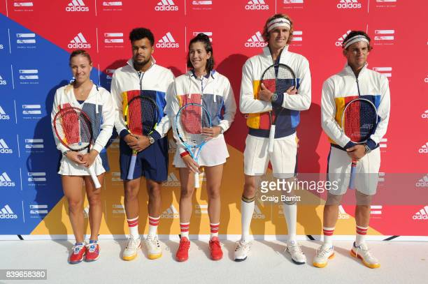 Angelique Kerber JoWilfried Tsonga Garbine Muguruza Stan Smith Sascha Zverev and Dominic Theim attend adidas Tennis Pharrell Williams Don't Be Quiet...