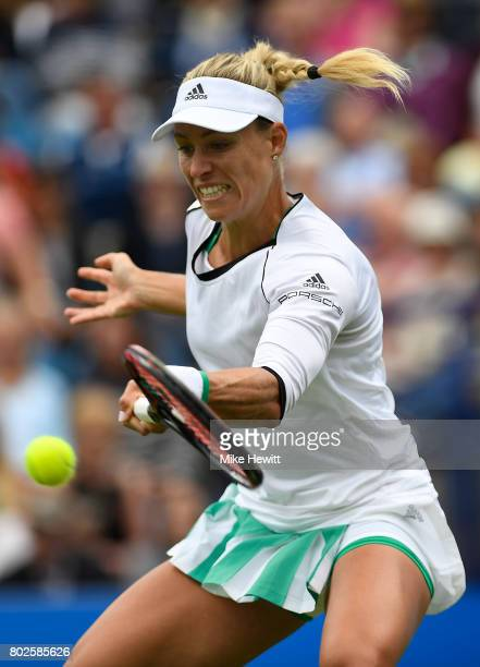Angelique Kerber of Germany in action during her victory over Kristyna Pliskova of Czech Republic on Day 4 of the Aegon International Eastbourne...