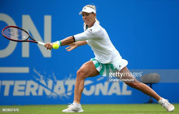Angelique Kerber of Germany in action during her women's singles match against Kristyna Pliskova of Czech Republic during day four of the Aegon...