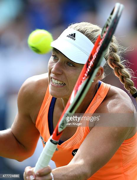 Angelique Kerber of Germany in action in in her quarter finals match over Katerina Siniakova of Czech Republic on day five of the Aegon Classic at...