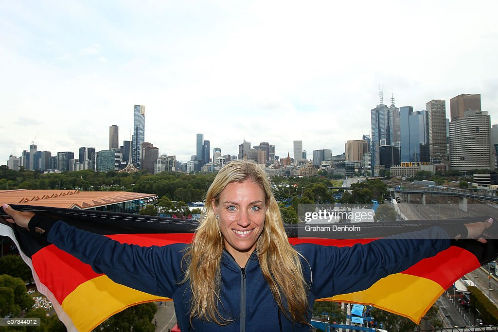 Angelique Kerber of Germany poses during day twelve of the 2016 Australian Open at Melbourne Park on January 29, 2016 in Melbourne, Australia.