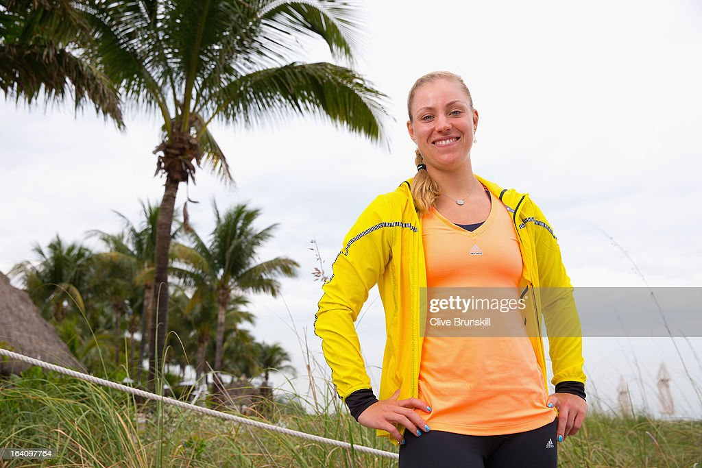 Angelique Kerber of Germany poses for a photograph during a WTA all access hour at the Ritz Carlton Hotel on March 19, 2013 in Key Biscayne, Florida.