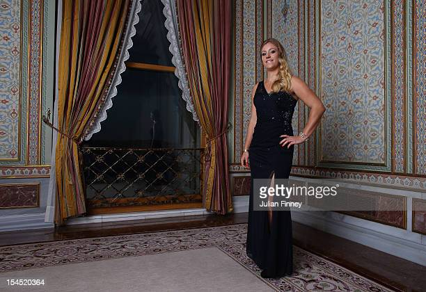 Angelique Kerber of Germany poses for a portrait during previews for the TEB BNP Paribas WTA Championships Istanbul on October 21 2012 in Istanbul...