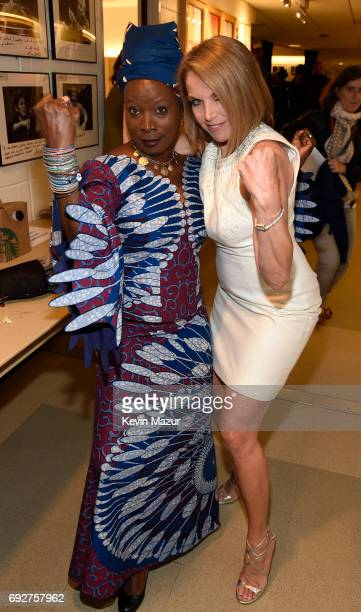 Angelique Kidjo and Katie Couric attend the National Night Of Laughter And Song event hosted by David Lynch Foundation at the John F Kennedy Center...
