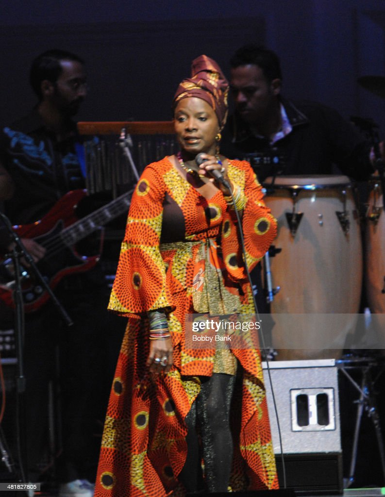 Angelique Kidjo attends The Music of Paul Simon at Carnegie Hall on March 31, 2014 in New York City.