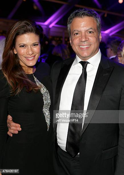 Angelique Madrid and producer Michael De Luca attend the 2014 Vanity Fair Oscar Party Hosted By Graydon Carter on March 2 2014 in West Hollywood...