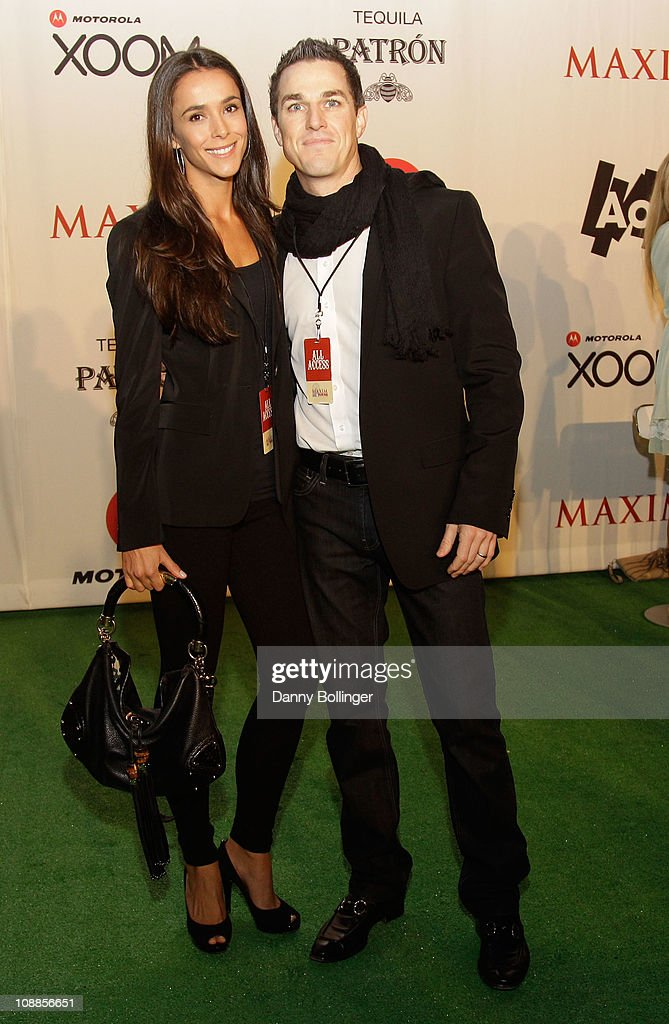Angelique Wilson (L) and Virgin CEO Andrew Wilson attend Virgin Gaming at the Maxim Party Powered by Xoom at Centennial Hall at Fair Park on February 5, 2011 in Dallas, Texas.
