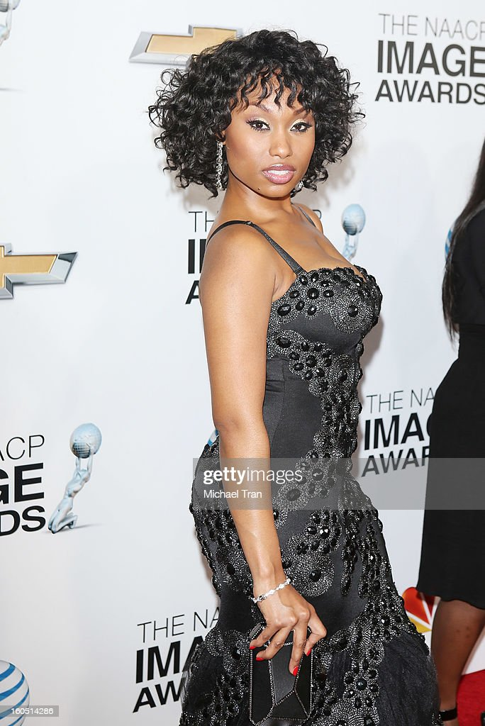 Angell Conwell arrives at the 44th NAACP Image Awards held at The Shrine Auditorium on February 1, 2013 in Los Angeles, California.
