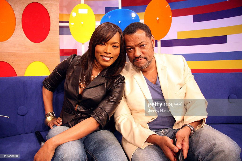 Angella Bassett and <a gi-track='captionPersonalityLinkClicked' href=/galleries/search?phrase=Laurence+Fishburne&family=editorial&specificpeople=206347 ng-click='$event.stopPropagation()'>Laurence Fishburne</a> during <a gi-track='captionPersonalityLinkClicked' href=/galleries/search?phrase=Laurence+Fishburne&family=editorial&specificpeople=206347 ng-click='$event.stopPropagation()'>Laurence Fishburne</a>, Angella Bassett and KeKe Palmer Visit 106 and Park - April 27, 2006 at BET Studio's NYC in New York, New York, United States.