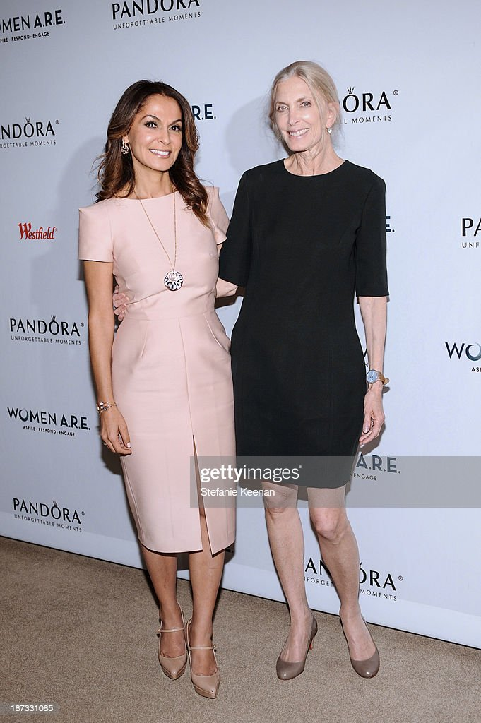 Angella Nazarian and Barbara Guggenheim attend WOMEN A.R.E Inaugural Summit Presented By PANDORA at SLS Hotel on November 7, 2013 in Beverly Hills, California.