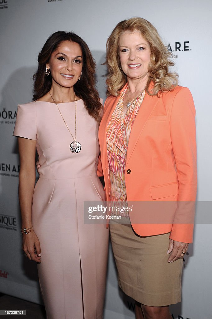 Angella Nazarian and <a gi-track='captionPersonalityLinkClicked' href=/galleries/search?phrase=Mary+Hart&family=editorial&specificpeople=211488 ng-click='$event.stopPropagation()'>Mary Hart</a> attend WOMEN A.R.E Inaugural Summit Presented By PANDORA at SLS Hotel on November 7, 2013 in Beverly Hills, California.