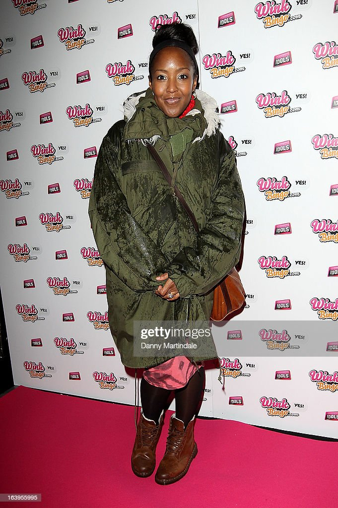 <a gi-track='captionPersonalityLinkClicked' href=/galleries/search?phrase=Angellica+Bell&family=editorial&specificpeople=2118935 ng-click='$event.stopPropagation()'>Angellica Bell</a> attends the Wink Bingo Celebrity Female Take Over on March 18, 2013 in London, England.