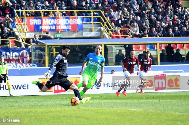 Angelo Da Costa goalkeeper of Bologna FC in action during the Serie A match between Bologna FC and FC Internazionale at Stadio Renato Dall'Ara on...