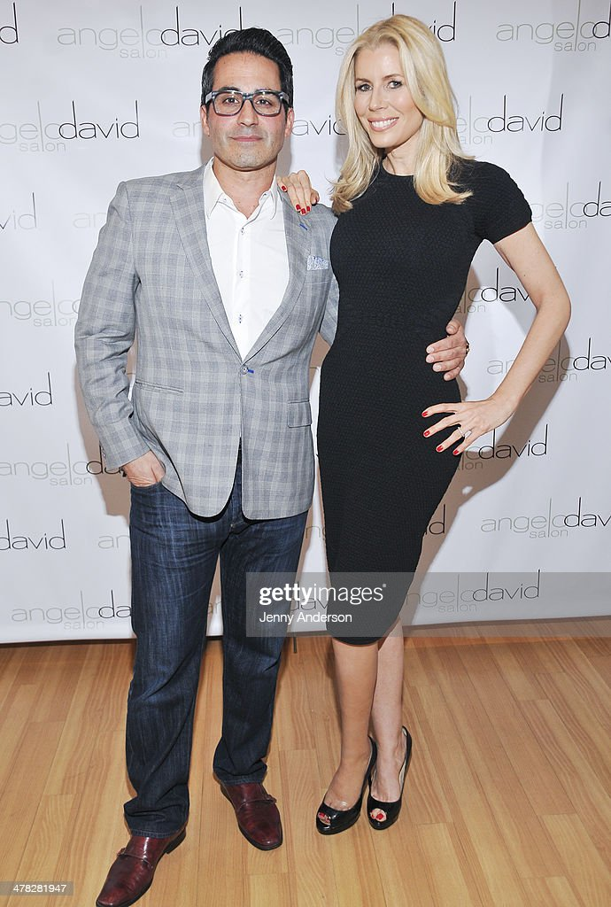 Angelo David and Aviva Drescher attends 'Leggy Blonde' book launch celebration at Angelo David Salon on March 12, 2014 in New York City.