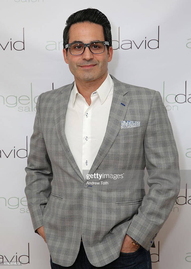Angelo David attends Aviva Drescher's 'Leggy Blonde' book launch celebration at Angelo David Salon on March 12, 2014 in New York City.