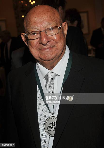 Angelo Dundee attends the 23rd Annual Great Sports Legends Dinner to Cure Paralysis at the Waldorf Astoria on September 22 2008 in New York City