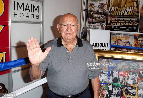 Angelo Dundee attends the ribbon cutting ceremony for the 5th Street Gym ReOpening on September 23 2010 in Miami Beach Florida