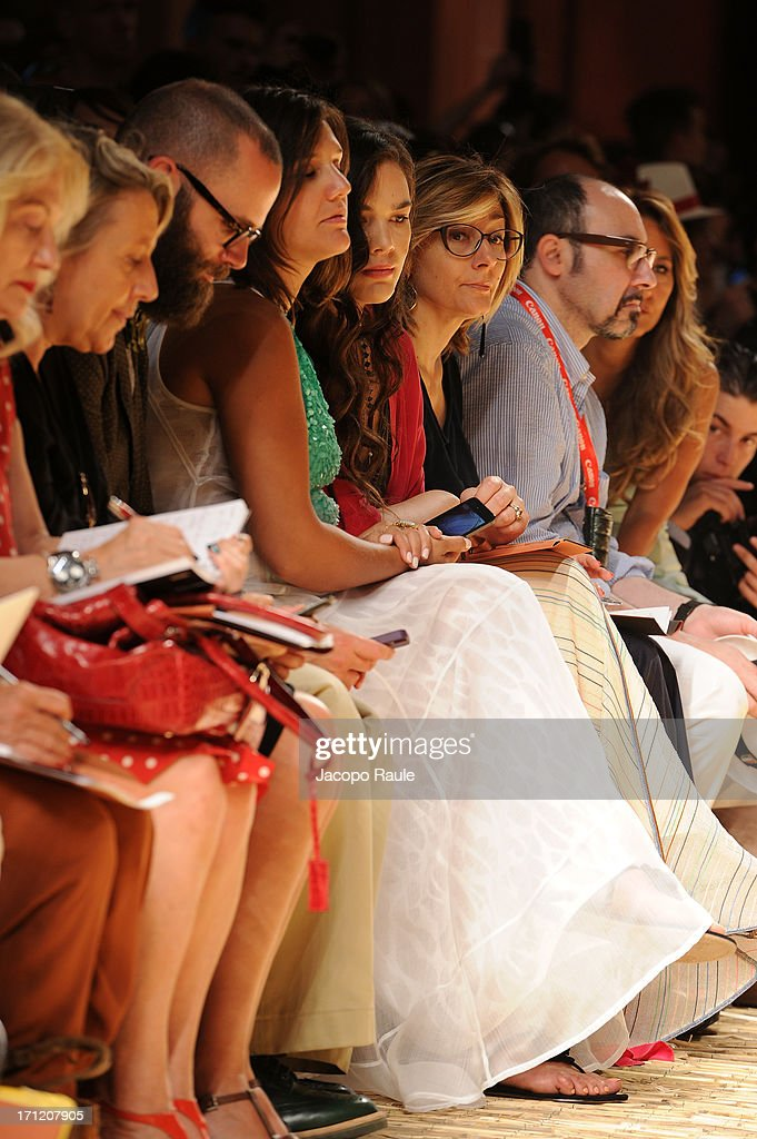 Angelo Flaccavento, Margherita Missoni and Teresa Missoni attend the Missoni Collection show during Milan Menswear Fashion Week Spring Summer 2014 on June 23, 2013 in Milan, Italy.