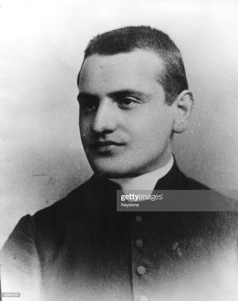 Angelo Giuseppe Roncalli (1881 - 1963), secretary to the Bishop of Bergamo, and later Pope John XXIII.