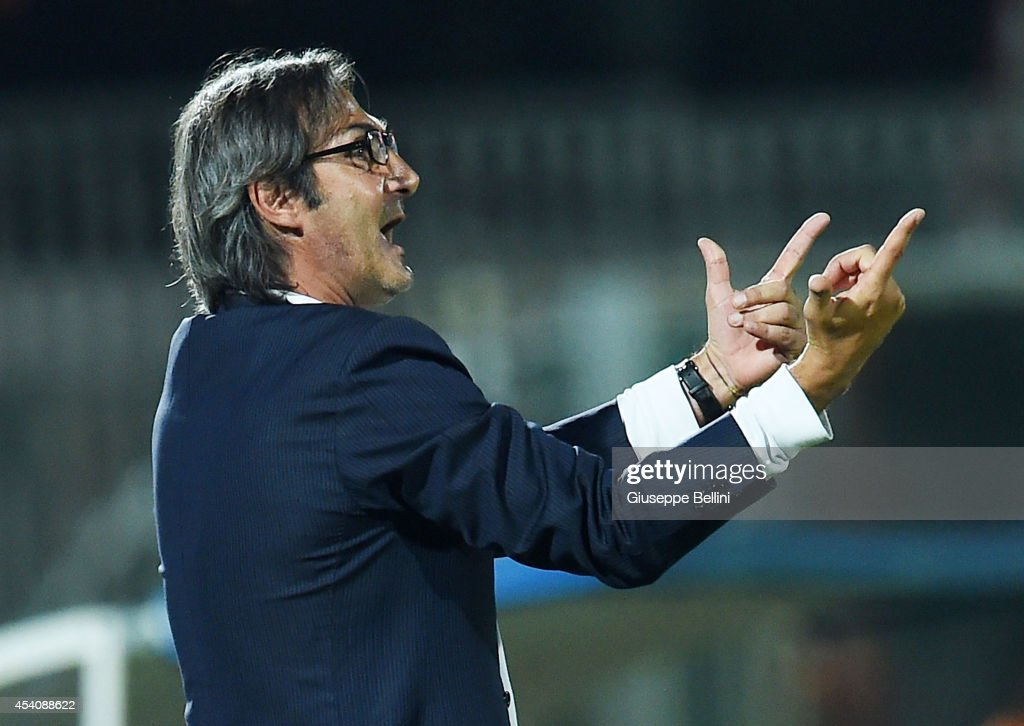 Angelo Gregucci head coach of Casertana during the TIM Cup match between AC Cesena and Casertana at Dino Manuzzi Stadium on August 24, 2014 in Cesena, Italy.