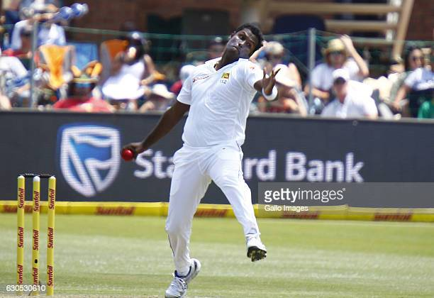 Angelo Mathews of Shri Lanka during day 1 of the 1st Test match between South Africa and Sri Lanka at St George's Park on December 26 2016 in Port...