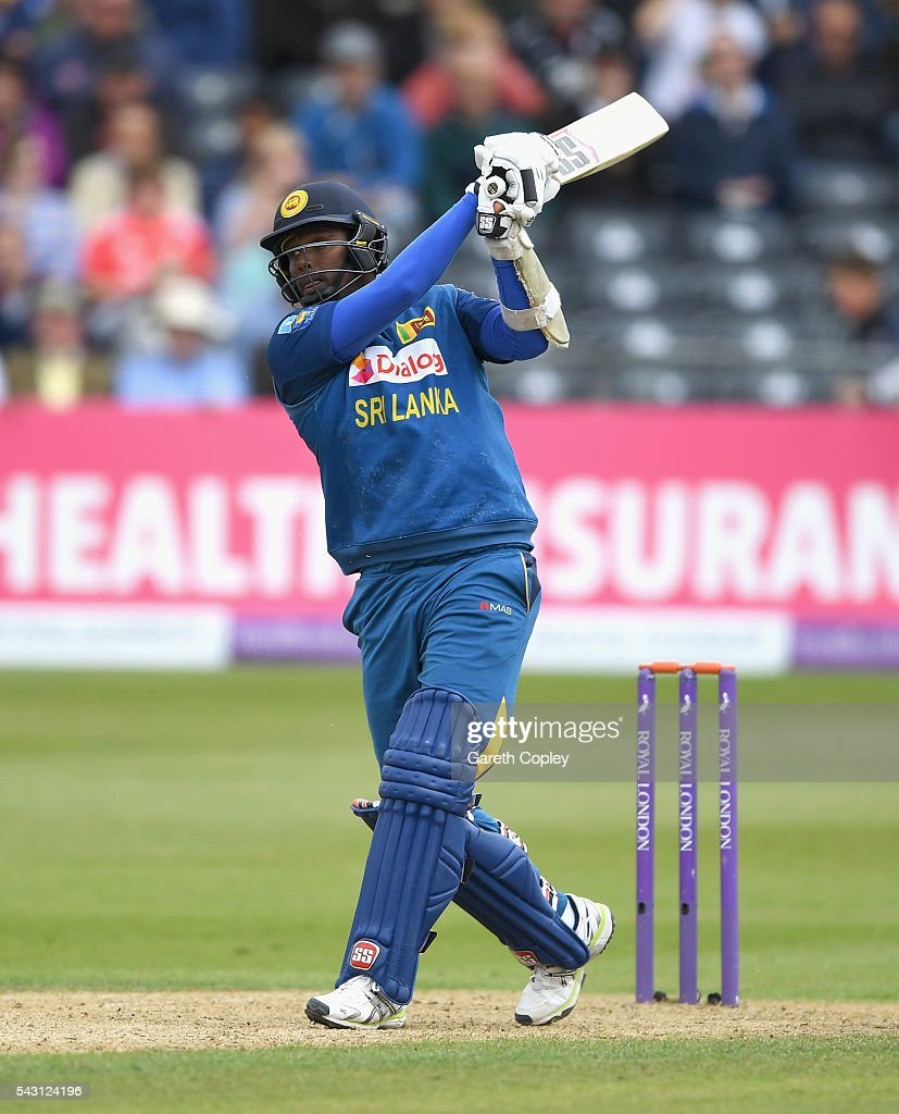 <a gi-track='captionPersonalityLinkClicked' href=/galleries/search?phrase=Angelo+Mathews&family=editorial&specificpeople=5622021 ng-click='$event.stopPropagation()'>Angelo Mathews</a> of Sri Lanka bats during the 3rd ODI Royal London One Day International match between England and Sri Lanka at The County Ground on June 26, 2016 in Bristol, England.