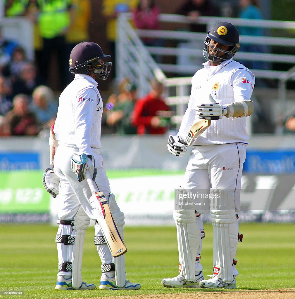 <a gi-track='captionPersonalityLinkClicked' href=/galleries/search?phrase=Angelo+Mathews&family=editorial&specificpeople=5622021 ng-click='$event.stopPropagation()'>Angelo Mathews</a> of Sri Lanka calls for a video review during day two of the 2nd Investec Test match between England and Sri Lanka at Emirates Durham ICG on May 28, 2016 in Chester-le-Street, United Kingdom.