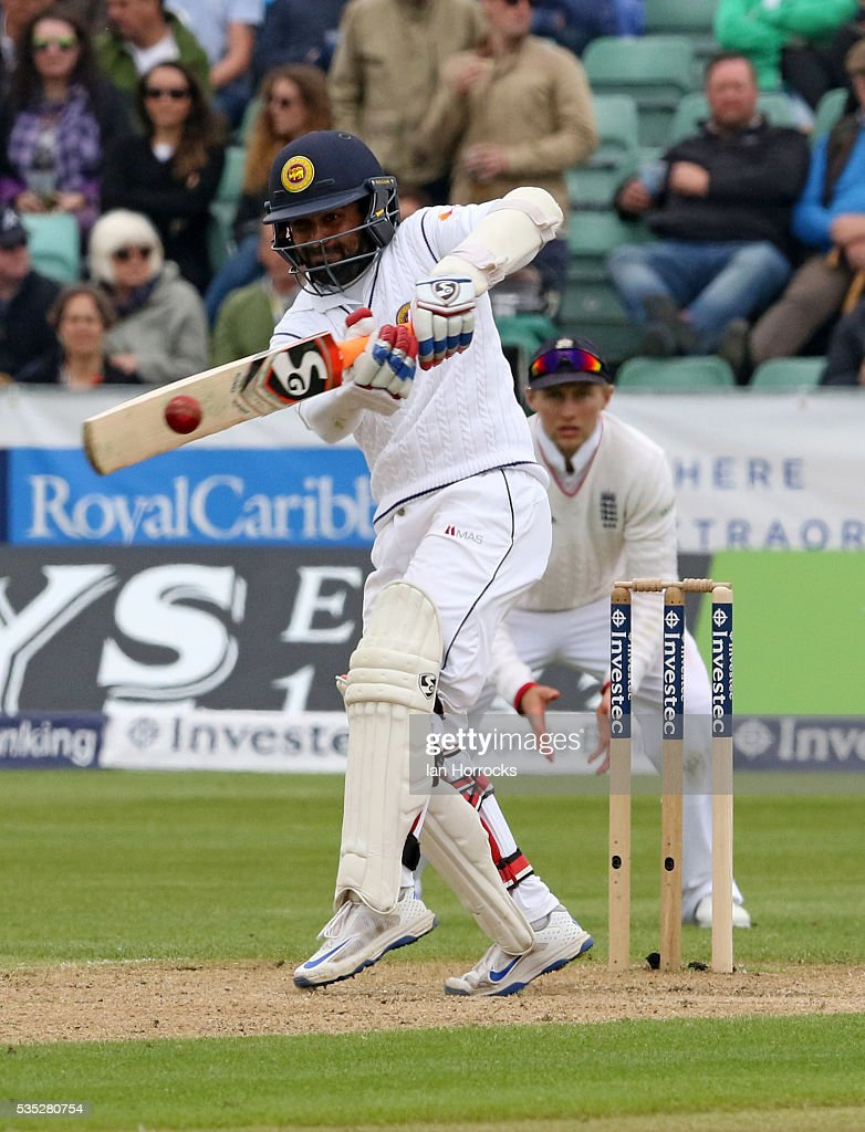 <a gi-track='captionPersonalityLinkClicked' href=/galleries/search?phrase=Angelo+Mathews&family=editorial&specificpeople=5622021 ng-click='$event.stopPropagation()'>Angelo Mathews</a> of Sri Lanka during day three of the 2nd Investec Test match between England and Sri Lanka at Emirates Durham ICG on May 29, 2016 in Chester-le-Street, United Kingdom.