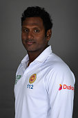 Angelo Mathews of Sri Lanka poses for a portrait at Headingley on May 17 2016 in Leeds England