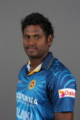 Angelo Mathewsof Sri Lanka poses for a headshot during the Sri Lanka nets session at The Kia Oval on May 19 2014 in London England