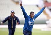 Angelo Matthews of Sri Lanka during a Sri Lanka nets session at Edgbaston on June 2 2014 in Birmingham England