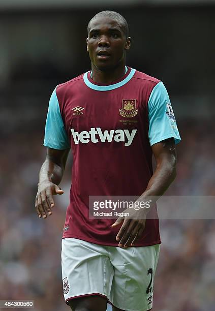 Angelo Ogbonna Obinze of West Ham looks on during the Barclays Premier League match between West Ham United and Leicester City at the Boleyn Ground...