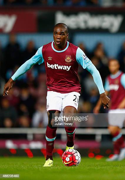 Angelo Ogbonna Obinze of West Ham United in action during the Barclays Premier League match between West Ham United and Newcastle United at Boleyn...